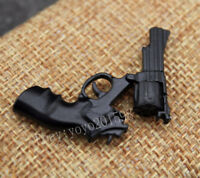 "2PC 1:6 Scale Stirling Black Revolver Gun Model Weapon Model F12"" Action Figure"