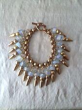 African Milk Glass Fringe Bracelet 1989 Robert Lee Morris / Donna Karan