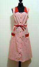 CULT VINTAGE '70 Abito Vestito Donna Pin Up Cotton Woman Dress Sz.M - 44
