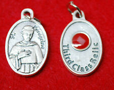 St. PEREGRINE LAZIOSI RELIC MEDAL - WITH CLOTH TOUCHED TO HIS RELIC