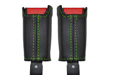 green stitch FITS HONDA CRX DEL SOL  92-98 2X FRONT SEAT BELT STALK  COVERS