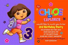 Personalised Birthday Invitations Dora The Explorer x 5