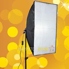 Photo Studio 50cm x 70cm Softbox Slave Flash Bulb Swivel E27 CFL Adapter Softbox
