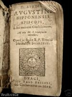 RARE ANTIQUE FRENCH BOOK DATED 1629 LATIN TEXT