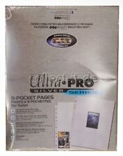50 Ultra Pro 9-Pocket Silver Series Pages Ordnerseiten für 3-Ring Album