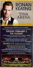 Ronan Keating Concert Promo Flyer Handbill Australian Tour 2010 guest Tina Arena