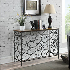 Narrow Table For Hallway Accent Console Entryway Contemporary Antique Black