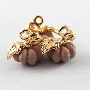20 pcs Pink Zinc Alloy Halloween Pumpkin Charms Necklace Pendant Crafts 51911
