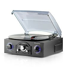 Record Player Vinyl Turntable With 3-Speed Stereo RCA/MP3/SD/USB/ 33/45/78 RPM
