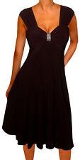 KF2 FUNFASH SLIMMING BLACK EMPIRE WAIST COCKTAIL CRUISE DRESS Plus Size 1X 18 20
