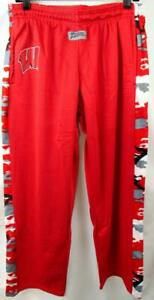 Wisconsin Badgers Men Large or 2X-Large Zubaz Camo Accent Warm Up Pants AWIS 206