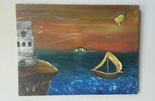Paradise, 18x24, Acrylic,  Surrealism, original,  fantasy