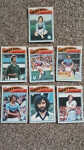 Topps Football 1977-78 West Ham Cards