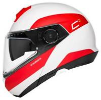 Schuberth C4 Pro Fragment White Red Helmet - Fast & Free Shipping
