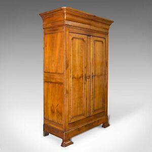 Antique Linen Press, French, Chestnut, Cupboard, Wardrobe, Circa 1850