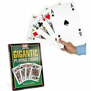 Large Playing Cards Big Jumbo 12cm Giant Gigantic A4 Full Decks UK STOCK