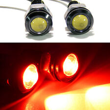 2x Red LED Projector 18mm Screw Lights 12V Tail Lights Turn Signal Stop Accent