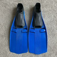 U.S. Divers Fins Size 6.5-8, 40-41, Snorkel Scuba US Full Foot Pocket Blue Black