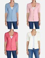 EDDIE BAUER Christine Classic Elbow Cardigan Sweater PS,PM,PL,XS,S,M,MT NEW! *