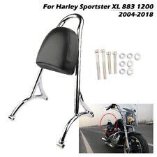 Cuscino sedile passeggero moto schienale Sissy Bar per Harley Sportster XL