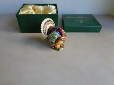 Dept 56 Bejeweled Collection large turkey box in box with bling 3 1/4 inches