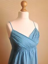 Esprit Womans Lovely Blue Sundress In A Silky Cotton. Size 10. Spaghetti Straps