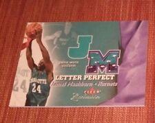 2001-02 Fleer Exclusive Letter Perfect JV #20 Jamal Mashburn Hornets Basketball