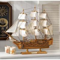 HMS VICTORY wood SHIP MODEL Sailboat Boat nautical ocean sailing statue object