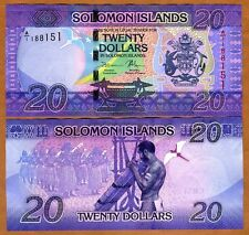 Solomon Islands, $20, ND (2017), P-New, A/1, UNC > New Colorful Design