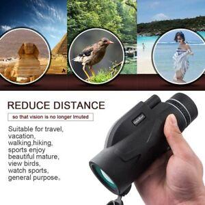 80x100 Zoom BAK4 HD Lens Prism Monocular Telescope+Tripod+ Phone Clip Waterproof