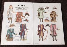 Vintage Pat Stall JAYNE & her Frocks, Paper Doll Uncut,1984
