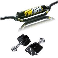 Pro Taper SE Handlebars Bars 22mm 7/8 BLACK CR High Bend Clamps CRF KXF CR KX