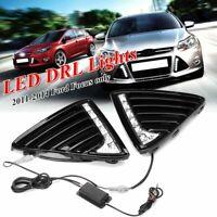 2x Car Daytime Running Light 7 LED Fog Head Lamp DRL For Ford Focus 2011-2014