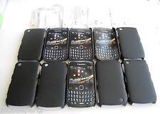 10 X Cygnett Negro Estuche Y Protector De Pantalla Para Blackberry Curve 8520 & 9300 3g