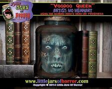 """Voodoo Zombie """"Head in Jar"""" Halloween/Horror Prop/Decor - Fetid Green Version"""