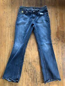 Rocawear Women's Size 13/14 Bootcut Jeans Medium/Dark Wash Denim Copper Bling