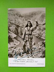 Winnetou I Rüdel Autogrammkarte # 3881 drucksigniert Pierre Brice top-Zustand