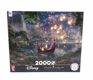 Disney Thomas Kinkade Tangled Rapunzel 2000 Piece Jigsaw Puzzle