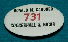 1950s Vintage : NEW YORK STOCK EXCHANGE : Broker BADGE @ Coggeshall & Hicks NYSE