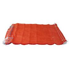 200 Arancione Mesh Net Sacchi Sacchetti legna da bruciare i registri patate Cipolle 50cm x 80cm/30kg