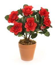 Fiori e piante finte bonsai rossi per la decorazione della casa
