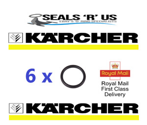 6 x  KARCHER HD HDS HOSE NOZZLE JET LANCE SPARE O-RING SEALS EPDM O RINGS