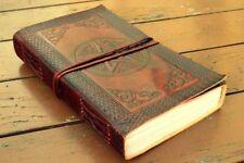 Handmade Leather Journal Diary Embossed Notebook Pentacle Brown Sketchbook 9x5