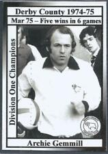 DERBY COUNTY-CHAMPIONS-1974-75-ARCHIE GEMMILL-MAR 75-5 WINS IN 6 GAMES