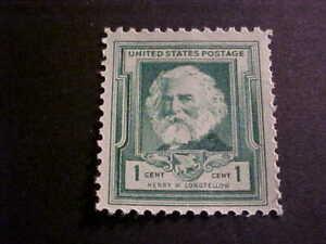 Scott # 864 Henry W. Longfellow Unused OGNH