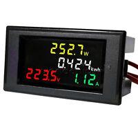 LCD Digital Voltmeter Ammeter Volt Amp Power Kwh Panel Meter AC 80-300V 100A