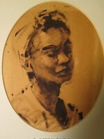 VINTAGE 1954 MID MOD E STANLEY TURNBULL AFRICAN AMERICAN IMPRESSIONIST PAINTING