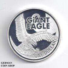 New Zealand 1 Dólar $ Plata Proof Giant Águila 2009 - Pp Plata Nueva Zelanda