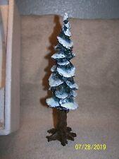 "Heritage Village Collection ""Pole Pine Tree"" 10.5 ""Cold Cast Porcelain-Nice"