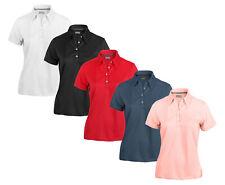 Ashworth Women's Performance EZ-SOF Solid Polo Golf Shirt, 4 Colors
